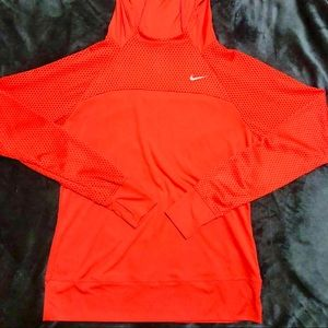 Red Nike DRI-FIT Hoodie